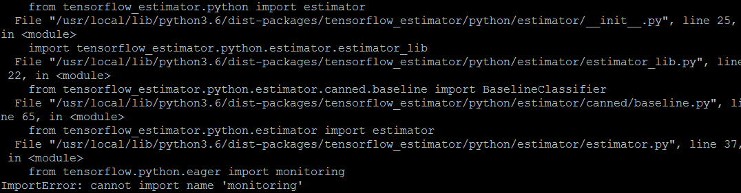 How to fix «from tensorflow python eager import monitoring